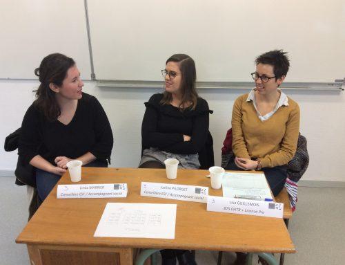 Un forum des métiers au Lycée